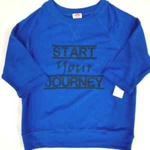 Pink Lotus Start Your Journey Long Sleeve Top Blue